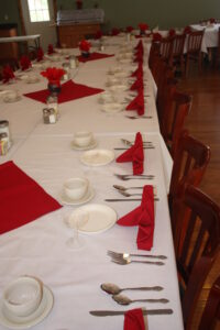 Place settings again